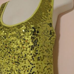 Say What? Tops - {Say What?} Ribbed Sequin Tank